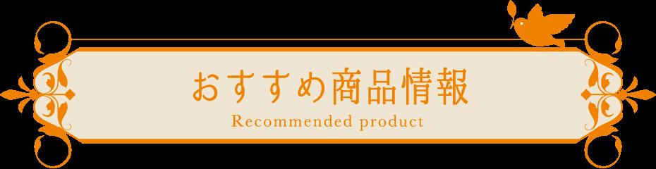 おすすめ商品情報